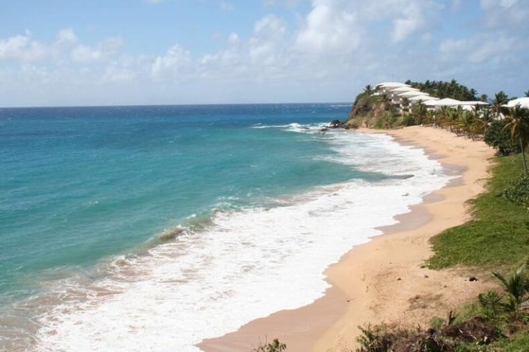 rom the west coast of the island of Antigua