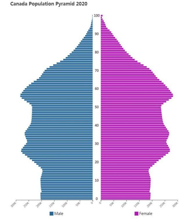 Canada Population Pyramid 2020