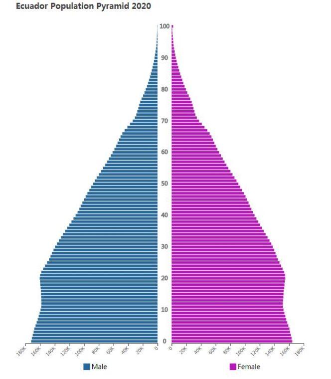 Ecuador Population Pyramid 2020
