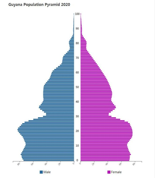 Guyana Population Pyramid 2020