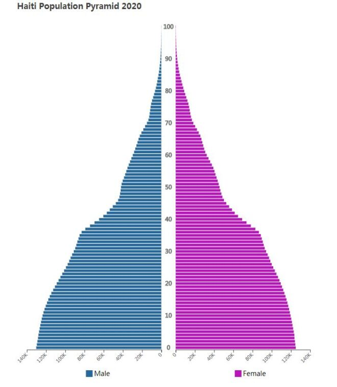 Haiti Population Pyramid 2020