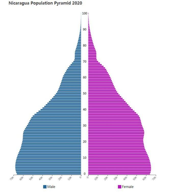 Nicaragua Population Pyramid 2020