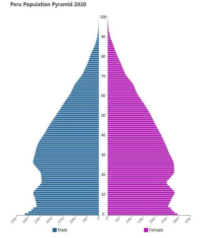 Peru Population Pyramid 2020