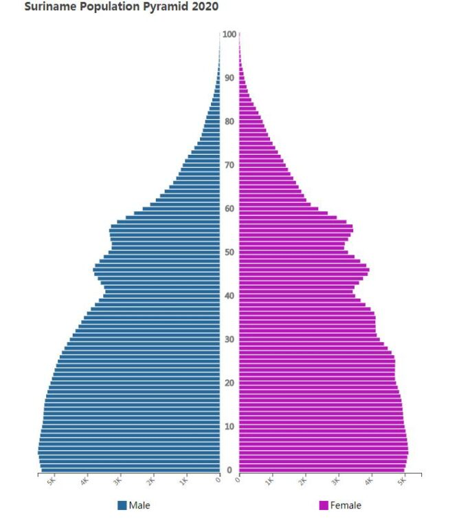 Suriname Population Pyramid 2020