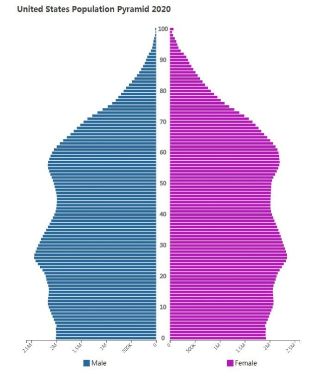 United States Population Pyramid 2020