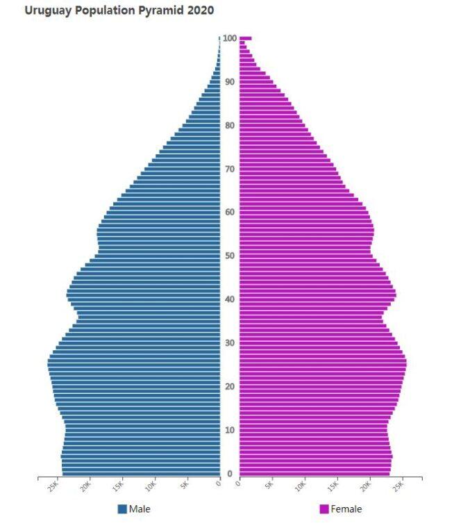 Uruguay Population Pyramid 2020