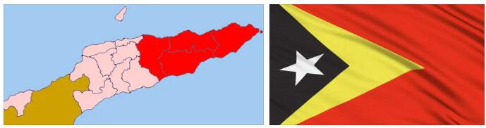 East Timor Flag and Map