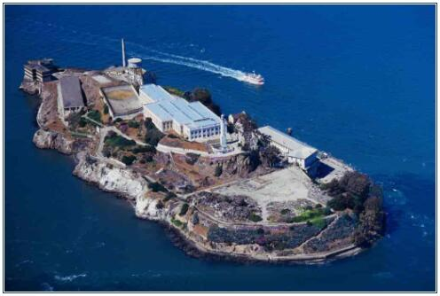The rocky island of Alcatraz