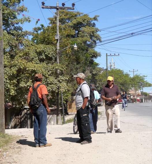 Honduras Men often dominate the streetscape, especially in rural areas