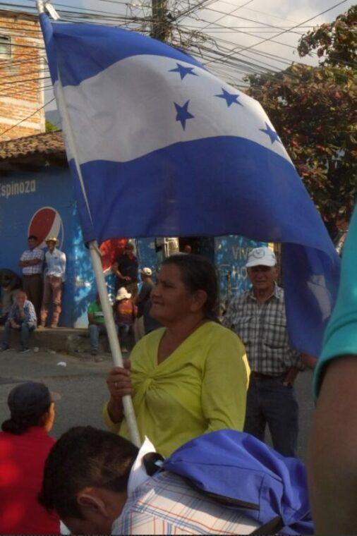 Protesters at a road blockade in Ocotepeque Honduras