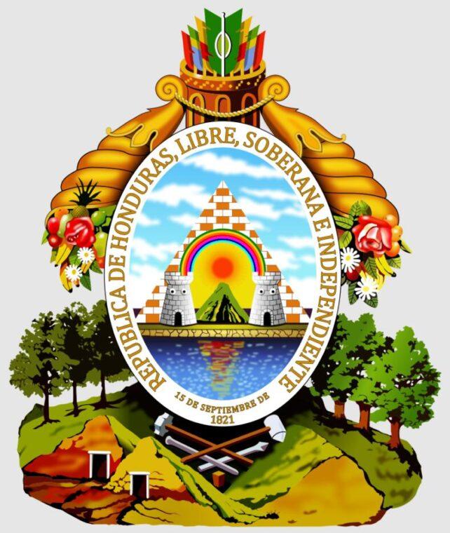 The Honduran coat of arms