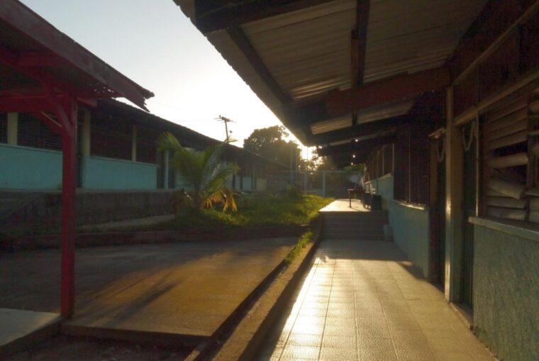 The courtyard of a school in Trujillo Honduras